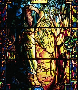 Moses and the Burning  by Bush Louis Comfort Tiffany 1848-1933