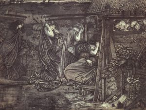 Burne-Jones, Sir Edward Coley-The Wise and Foolish Virgins, 1859