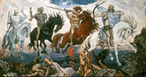 Vasnetsov, Viktor-The Four Horsemen of the Apocalypse-1887