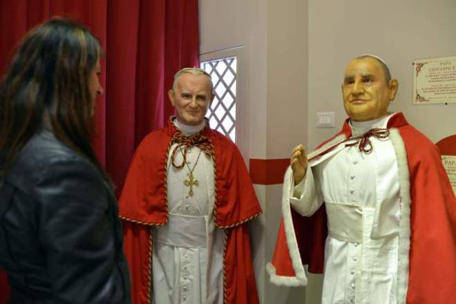 ITALY-VATICAN-POPE-SAINTS-CANONISATION-WAX